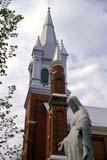 LOC EDM MIS  AB  DSR1000428D  VTST. JOACHIM CATHOLIC CHURCHEDMONTON                        05/24© DUANE S. RADFORD         ALL RIGHTS RESERVEDAB_;ALBERTA;BUILDINGS;CATHOLIC;CHURCHES;EDMONTON;PLAINS;PRAIRIES;RELIGION;ST_JOACHIM_CATHOLIC_CHURCH;STATUES;STRUCTURES;SUMMER;VTLLONE PINE PHOTO              (306) 683-0889