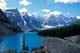 MORAINE LAKE, VALLEY OF THE TEN PEAKS, BANFF NATIONAL PARK