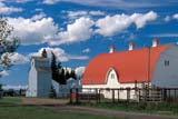 SEA AUT SCE  AB  CWN2207717DWHITE BARN, RED ROOF AND CLOUDSWETASKIWIN                       09/..© CLARENCE W. NORRIS       ALL RIGHTS RESERVEDAB_;ALBERTA;AUTUMN;BARNS;CLOUDS;FARMING;FARMYARDS;PLAINS;PRAIRIES;RURAL;SCENES;SKY;STRUCTURES;WETASKIWINLONE PINE PHOTO              (306) 683-0889