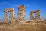 SEA AUT SCE  AB  DSR1001458D   WALLS OF ABANDONED STONE HOUSECESSFORD                         10/..© DUANE S. RADFORD         ALL RIGHTS RESERVEDAB_;ABANDONED;ALBERTA;AUTUMN;CESSFORD;PLAINS;PRAIRIES;RURAL;SCENES;STONE;STRUCTURESLONE PINE PHOTO              (306) 683-0889