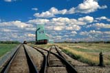 SEA AUT SCE  AB  CWN2207813DAGRICORE ELEVATOR AND TRAIN TRACKSBAWLF                                09/..© CLARENCE W. NORRIS       ALL RIGHTS RESERVEDAB_;AGRICORE;ALBERTA;AUTUMN;BAWLF;CLOUDS;ELEVATORS;FARMING;PLAINS;PRAIRIES;RAIL;RAILROADS;RURAL;SCENES;SKY;STRUCTURES;TRAINS;TRANSPORTATIONLONE PINE PHOTO              (306) 683-0889