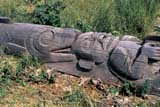 HIS NAT KIT  BC     1408010DTOTEM POLE LYING IN GRASSKITWANGA FORT NAT. HIS.  07/..© CLARENCE W. NORRIS      ALL RIGHTS RESERVEDABORIGINAL;ART;BC_;BRITISH;BRITISH_COLUMBIA;COLUMBIA;CORDILLERA;CULTURE;FIRST;FIRST_NATIONS;KITWANGA_FORT_NHS;NATIONS;PACIFIC;SUMMER;TOTEM_POLES;TOURISM;WEST_COASTLONE PINE PHOTO              (306) 683-0889