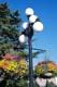 LAMPPOST AND HANGING FLOWER BASKETS, VICTORIA, VANCOUVER ISLAND
