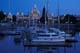 MARINA AND LEGISLATIVE BUILDINGS LIT AT NIGHT, VICTORIA, VANCOUVER ISLAND