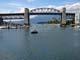 AQUA BUS AND BURRARD ST BRIDGE, GRANVILLE ISLAND, VANCOUVER