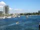 KAYAKERS AND CITY SKYLINE, FALSE CREEK, GRANVILLE ISLAND, VANCOUVER