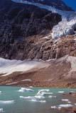 PAR NAT JAS  AB  KJM0307516D  VT    ANGEL GLACIER, ICE ON LAKE, MT. EDITH CAVELLJASPER NAT. PK.                 08/..© KEVIN MORRIS                ALL RIGHTS RESERVEDAB_;ALBERTA;ALPINE;ANGEL_GLACIER;BULLETINS;CORDILLERA;ELEMENTS;GLACIERS;ICE;ICE_FLOES;JASPER_NP;LAKES;MT_EDITH_CAVELL;NP_;SCENES;SUMMER;TURQUOISE;VTL;WATERLONE PINE PHOTO              (306) 683-0889