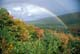 RAINBOW OVER AUTUMN VALLEY, CAPE BRETON HIGHLANDS NATIONAL PARK, CAPE BRETON ISLAND