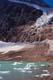 ANGEL GLACIER, ICE ON LAKE, MT. EDITH CAVELL, JASPER NATIONAL PARK
