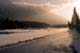 ICE FOG ON KOOTENAY RIVER AT SUNRISE, KOOTENAY NATIONAL PARK
