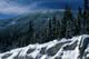 SNOW-COVERED TREES AND RIDGE, KOOTENAY NATIONAL PARK