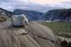 GLACIAL STRIATIONS ON ROCK, ALSEK RIVER, KLUANE NATIONAL PARK