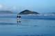 PEOPLE WALKING ON BEACH, LONG BEACH, PACIFIC RIM NATIONAL PARK