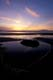 ROCK AND TIDAL POOL AT SUNSET, WICKANINNISH BEACH, PACIFIC RIM NATIONAL PARK