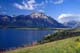 PARK ENTRANCE, LAKE AND SOFA MOUNTAIN, WATERTON LAKES NATIONAL PARK