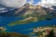 WATERTON PARK TOWNSITE FROM ABOVE, WATERTON LAKES NATIONAL PARK