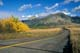 RED ROCK CANYON ROAD IN AUTUMN, WATERTON NATIONAL PARK