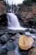 CAMERON FALLS IN SUMMER, WATERTON LAKES NATIONAL PARK