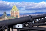 LOC QUE MIS  QC  DSR1001530D  CITADEL CANNONSCHATEAU FRONTENAC HOTELQUEBEC CITY                      10/..© DUANE S. RADFORD         ALL RIGHTS RESERVEDAUTUMN;CANNONS;CENTRAL;CHATEAU_FRONTENAC_HOTELS;FORTS;HISTORIC;HOTLELS;QC_;QUEBEC;QUEBEC_CITY;TOURISMLONE PINE PHOTO              (306) 683-0889