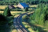 SEA SUM SCE  QC  CRS0000279D  TRAIN TRACK AND C CURVEGASPE PENINSULANEWPORT                         08/..© CLIFF SANDESON            ALL RIGHTS RESERVEDABANDONED;CENTRAL;GASPE;GASPE_PENINSULA;NEWPORT;OLD;QC_;QUEBEC;RAIL;SUMMER;TRAINSLONE PINE PHOTO              (306) 683-0889