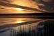 SUNRISE THROUGH MORNING MIST, ANGLIN LAKE