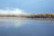 AUTUMN SHORELINE THROUGH MORNING MIST, ANGLIN LAKE