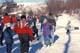 PEOPLE SKATING ON CREEK, SASKATOON