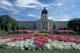 SASKATCHEWAN LEGISLATIVE BUILDING AND FLOWERS, REGINA