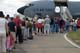 PEOPLE LINED-UP TO VIEW KC-145 AERIAL REFUELLING, CANADA REMEMBERS AIRSHOW, SASKATOON