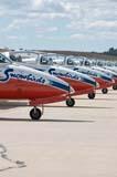 LOC SAS AIR  SK  WDS05B4183DX  VT        SNOWBIRDS CT-114 TUTOR JET LINED-UP ON RUNWAYCANADA REMEMBERS AIRSHOWSASKATOON                     08..© WAYNE SHIELS               ALL RIGHTS RESERVEDAIRPLANES;AIRSHOWS;CANADA_REMEMBERS_AIRSHOW;CT_114_TUTOR_JET;JETS;PLAINS;PRAIRIES;SASKATCHEWAN;SASKATOON;SK_;SNOWBIRDS;TEAMWORK;TOURISM;TRANSPORTATION;VTLLONE PINE PHOTO              (306) 683-0889