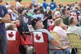 LOC SAS AIR  SK  WDS05B4295DX       SPECTATORS CANADA REMEMBERS AIRSHOWSASKATOON                     08..© WAYNE SHIELS               ALL RIGHTS RESERVEDAIRSHOWS;CANADA_REMEMBERS_AIRSHOW;CANADIAN;CROWDS;EVENTS;FLAGS;HATS;LAWN_CHAIRS;PEOPLE;PLAINS;PRAIRIES;SASKATCHEWAN;SASKATOON;SK_;TOURISMLONE PINE PHOTO              (306) 683-0889