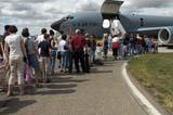 LOC SAS AIR  SK  WDS05B4214DX        CROWD LINED-UP TO VIEW HERCULES AIRCRAFTCANADA REMEMBERS AIRSHOWSASKATOON                     08..© WAYNE SHIELS               ALL RIGHTS RESERVEDAIRPLANES;AIRSHOWS;CANADA_REMEMBERS_AIRSHOW;CROWDS;EVENTS;HERCULES_AIRCRAFT;LINE_UPS;PEOPLE;PLAINS;PRAIRIES;SASKATCHEWAN;SASKATOON;SK_;TOURISM;TRANSPORTATION LONE PINE PHOTO              (306) 683-0889