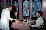 LOC SAS ATT  SK     1903011D  MR #318-319COUPLE DINING ON EAST INDIAN FOODTAJ MAHAL RESAURANT  SASKATOON                       05/15© CLARENCE W. NORRIS      ALL RIGHTS RESERVEDCOUPLE;CULTURE;DINING;EAST_INDIAN;FOOD;PEOPLE;PLAINS;PRAIRIES;RESTAURANTS;SASKATCHEWAN;SASKATOON;SK_;SPRING;STAINED_GLASS;TAJ_MAHAL;WINDOWSLONE PINE PHOTO              (306) 683-0889