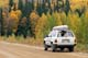 TOYOTA 4-RUNNER, CANOE ON AUTUMN ROAD, PRINCE ALBERT NATIONAL PARK