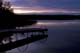 DOCK AT TWILIGHT, LAC LA PECHE