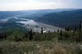 LOC DAW MIS  YT  DSR1001323DVIEW FROM THE MIDNIGHT DOME ROAD IN SUMMERDAWSON CITY                    06/..© DUANE S. RADFORD         ALL RIGHTS RESERVEDAERIAL;CORDILLERA;DAWSON_CITY;RIVERS;SUMMER;TOWNS;URBAN;YT_;YUKONLONE PINE PHOTO              (306) 683-0889