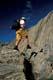 PERSON HIKING UP MOUNTAIN, GOATHERD MOUNTAIN, ALSEK RIVER