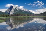 PAR NAT BAN  AB  BRH1703405DMT. RUNDLE REFLECTED IN LAKEVERMILLION LAKESBANFF NATIONAL PARK        08/25© BLAKE R. HYDE                ALL RIGHTS RESERVEDAB_;ALBERTA;ALPINE;BANFF_NP;CORDILLERA;LAKES;MOUNTAINS;MT_RUNDLE;NP_;REFLECTIONS;SCENES;SUMMER;VERMILLION_LAKES;WATERLONE PINE PHOTO              (306) 683-0889