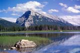 PAR NAT BAN  AB  BRH1703417DMT. RUNDLE REFLECTED IN LAKEVERMILLION LAKESBANFF NATIONAL PARK        08/05© BLAKE R. HYDE                ALL RIGHTS RESERVEDAB_;ALBERTA;ALPINE;BANFF_NP;CORDILLERA;LAKES;MOUNTAINS;MT_RUNDLE;NP_;REFLECTIONS;SCENES;SUMMER;VERMILLION_LAKES;WATERLONE PINE PHOTO              (306) 683-0889