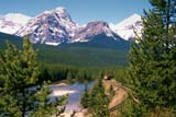 PAR NAT BAN  AB  BRH1903107DMORANT'S CURVEBANFF NATIONAL PARK        06/22© BLAKE R. HYDE                ALL RIGHTS RESERVEDAB_;ALBERTA;ALPINE;BANFF_NP;CORDILLERA;MORANTS_CURVE;MOUNTAINS;NP_;RAILROADS;SCENES;SUMMER;TRAINS;TRANSPORTATION;TREESLONE PINE PHOTO              (306) 683-0889