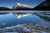 PAR NAT BAN  AB  REH1000913DMOUNT RUNDLE AND REFLECTION IN VERMILLION LAKESBANFF NATIONAL PARK            01© ROYCE HOPKINS                  ALL RIGHTS RESERVEDAB_;ALBERTA;ALPINE;BANFF_NP;CORDILLERA;LAKES;MOUNTAINS;MT_RUNDLE;NP_;REFLECTIONS;ROCKY;SCENES;VERMILLION_LAKES;WATER;WINTERLONE PINE PHOTO                 (306) 683-0889
