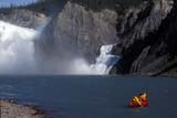 PAR NAT NAH  NT  TAP0000456DCANOEINGVIRGINIA FALLS, NAHANNI RIVERNAHANNI NATIONAL PARK        08© TERRY A. PARKER                ALL RIGHTS RESERVED  TP 8745ACTIVITIES;ALPINE;CANOES;CANOEING;CORDILLERA;MOUNTAINS;NAHANNI;NAHANNI_NP;NAHANNI_RIVER;NORTHWEST;NORTHWEST_TERRITORIES;NP_;NT_;NWT;OUTDOORS;PEOPLE;RECREATION;RIVERS;SCENES;SUMMER;TERRITORIES;VIRGINIA_FALLS;WATER;WATERFALLSLONE PINE PHOTO                 (306) 683-0889
