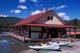 BOAT HOUSE ON MALIGNE LAKE, JASPER NATIONAL PARK