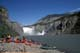CANOEING GROUP, VIRGINIA FALLS, NAHANNI RIVER, NAHANNI NATIONAL PARK