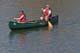 COUPLE CANOEING ON SOUTH SASKATCHEWAN RIVER, SASKATOON