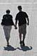 COUPLE WALKING AT RIVER LANDING, SASKATOON