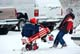 BOYS PLAYING WITH WAGON AFTER APRIL SNOWSTORM, WARMAN
