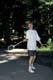 BOY PLAYING BADMINTON, KLEANZA CREEK PROVINCIAL PARK