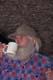 PROSPECTOR DRINKING COFFEE, NORTH BAY
