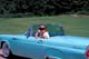 LADY IN 1955 THUNDERBIRD, FORT CARLING